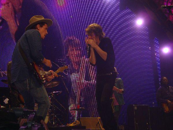 John Mayer & Mick Jagger  Photo: Latisha Alsys