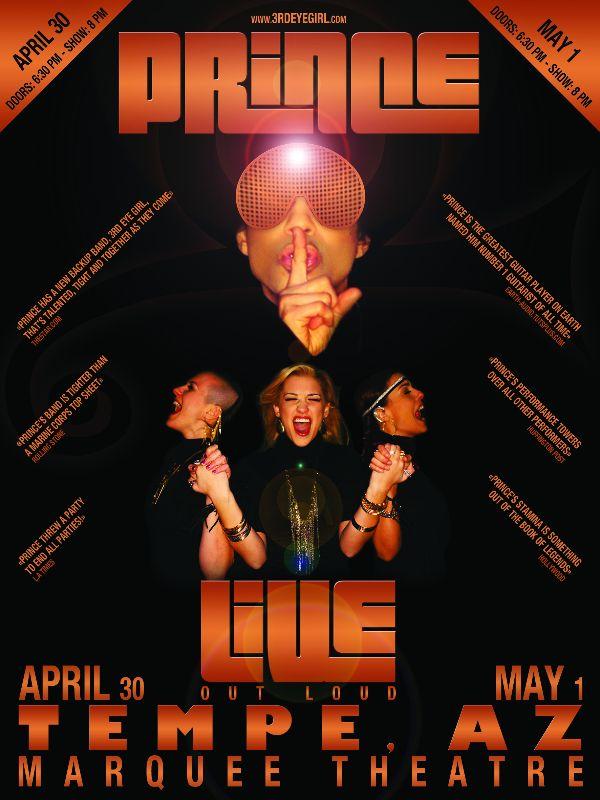 PRINCE & 3rdEyeGirl Tempe Poster By LV