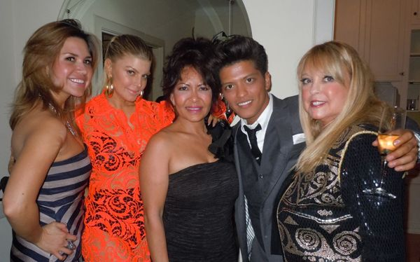 Bruno Mars, Mother Bernadette & Friends Photo: RollingOut.com