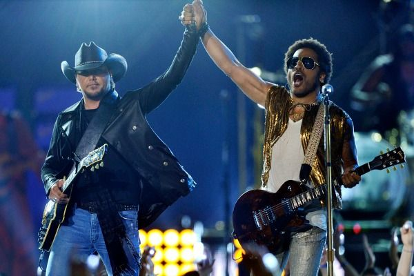 Jason Aldean & Lenny Kravitz Screen Cap http://blogs.tennessean.com/