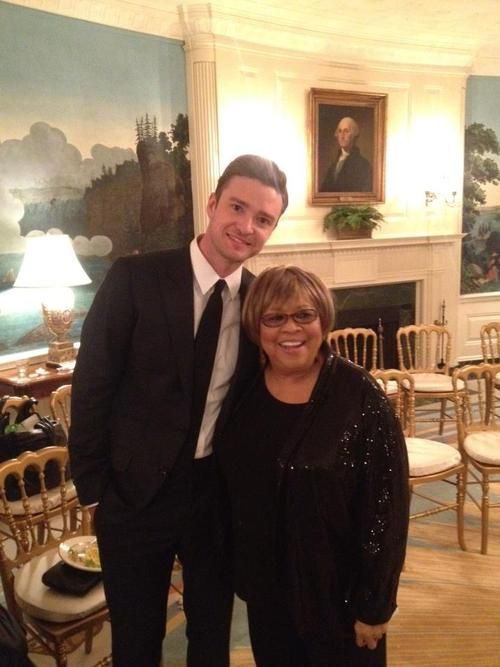 Justin Timberlake & Mavis Staples File Photo