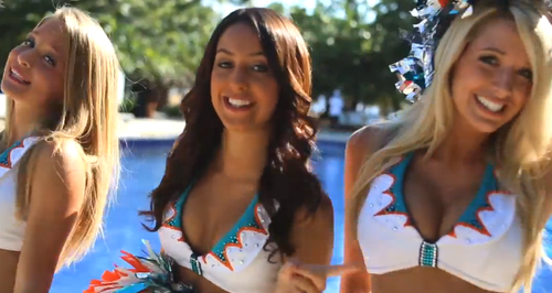 Miami Dolphine Cheerleaders Photo: CapitalFM.com