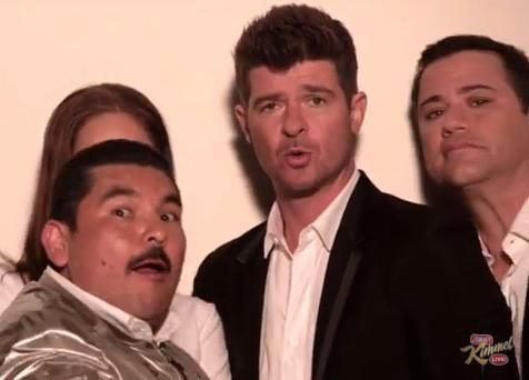 Robin Thicke, Jimmy Kimmel & Guillermo Photo: Jimmy Kimmel Live