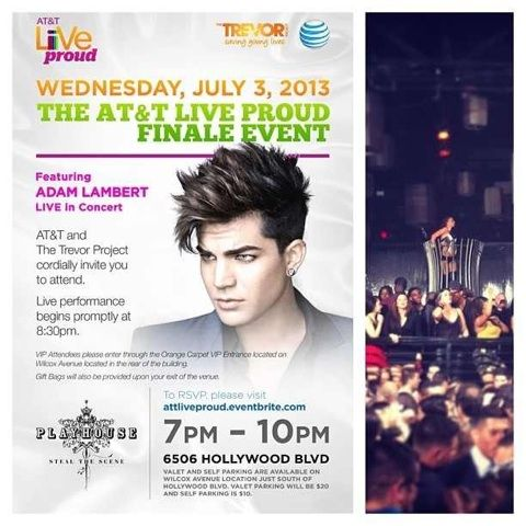 Adam Lambert & Trevor Project