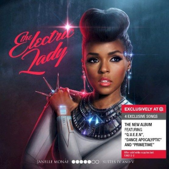 "Janelle Monae ""The Electric Lady"" Target Cover Artwork Via Idolator.Com"