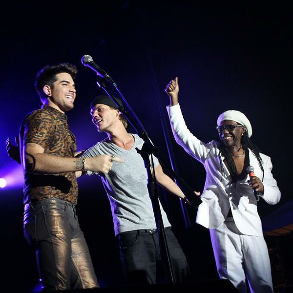 Adam Lambert, Avicii, & Nile Rodgers Photo: Avicii/Twitter