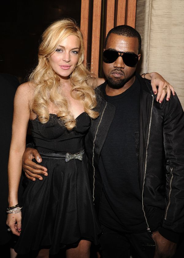 Lindsay Lohan & Kanye West Photo: GettyImages.com