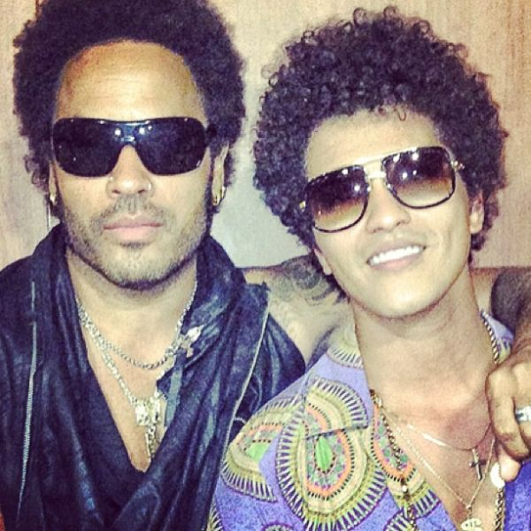 Lenny Kravitz & Bruno Mars Photo: Mathieu Bitton