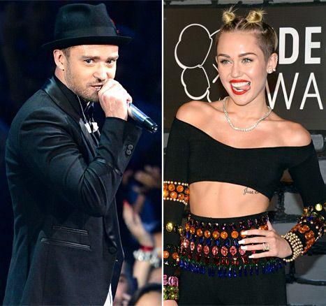 Justin Timberlake & Miley Cyrus Images: USMagazine.com