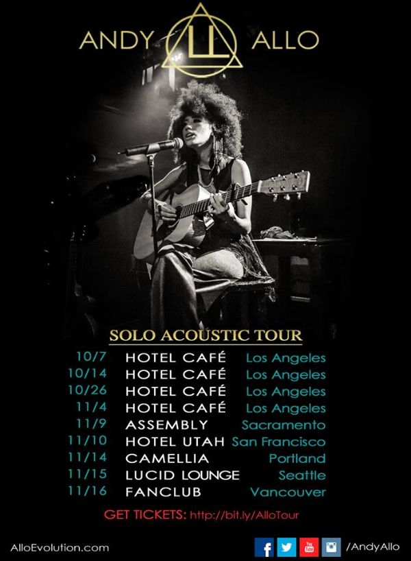 Andy Allo Tour Photo: Peter Lodder Photography