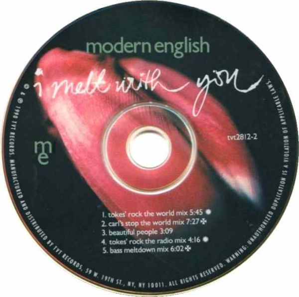 Modern English I Melt With You Single Photo: 45Worlds.com