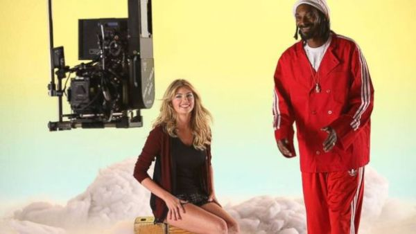 Kate Upton & Snoop Dogg Photo: ABCNEWS.Go.Com