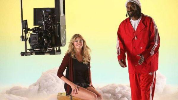 Kate Upton & Snoop Dogg Photo: ABCNEWS.Go.Com