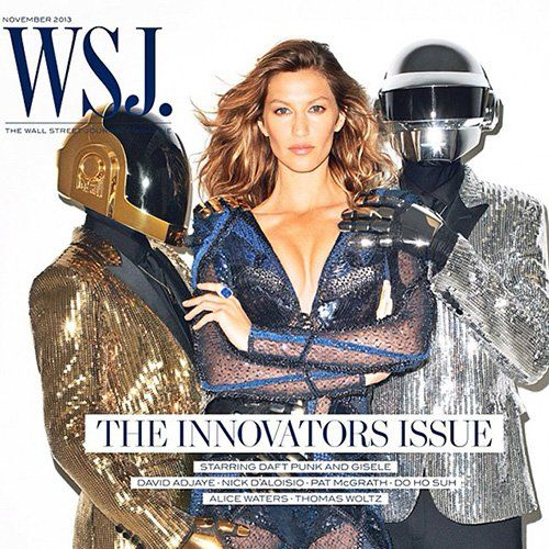 Gisele Bundchen & Daft Punk Photo: WSJ