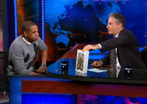 Jay Z & John Stewart Photo: Rap-Up.com