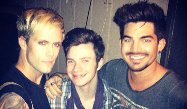 Justin Tranter, Chris Coffler, and Adam Lambert. Photo: NewNowNext.com
