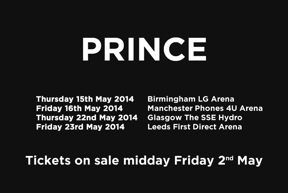 PRINCE UK DATES