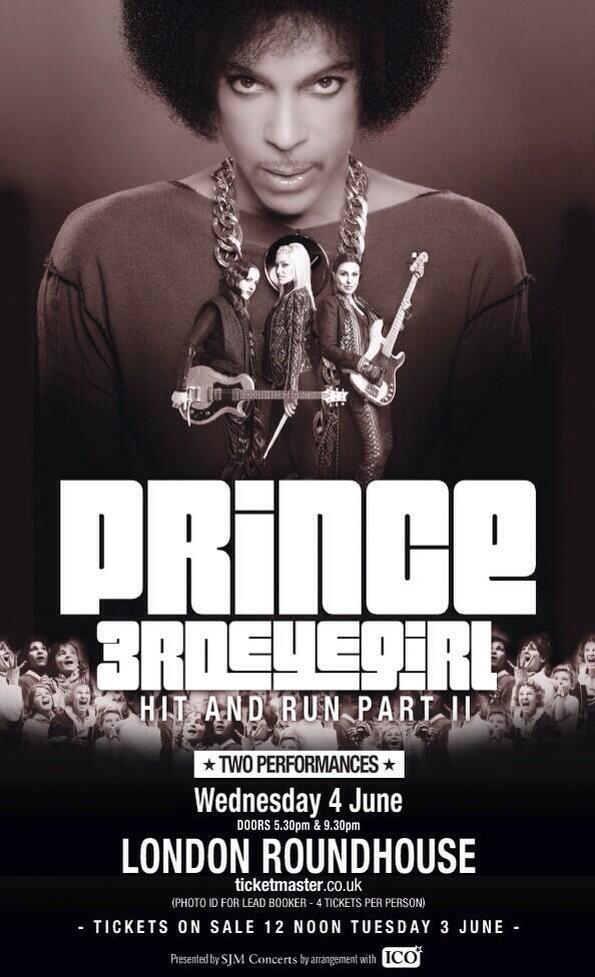 Prince London Roundhouse Promo NPG RECORDS 2014