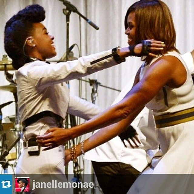 #ElectricLadies Janelle Monae & Michelle Obama
