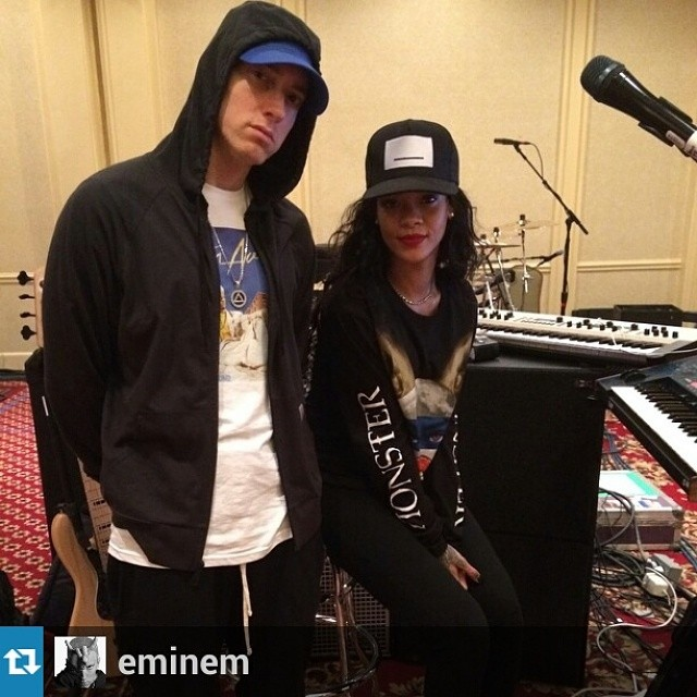 EMINEM & RIHANNA: Behind The Scenes Of The Monster Rehearsals.