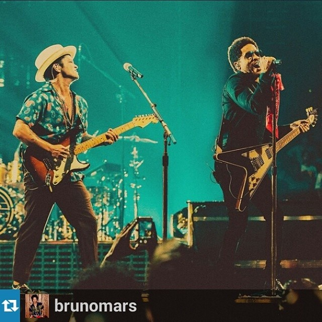 Bruno Mars & Lenny Kravitz Turn It Up At #MSG in #NYC