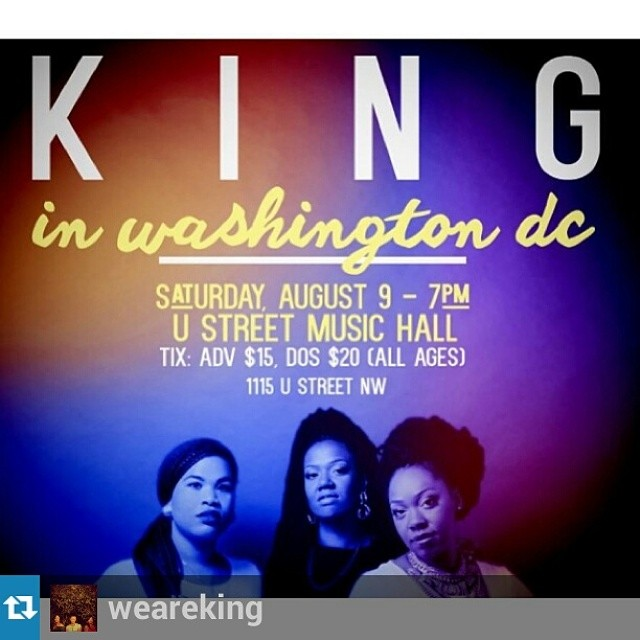 KING IN D.C. AUG. 9TH