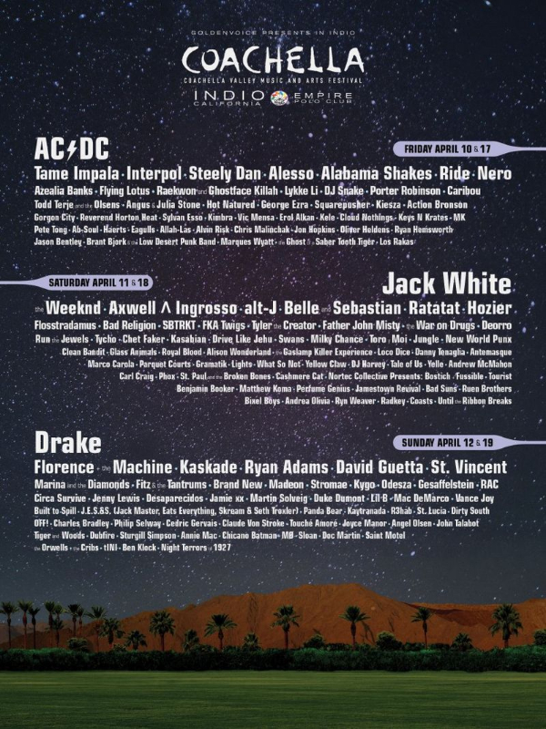 Coachella 2015 Line-Up