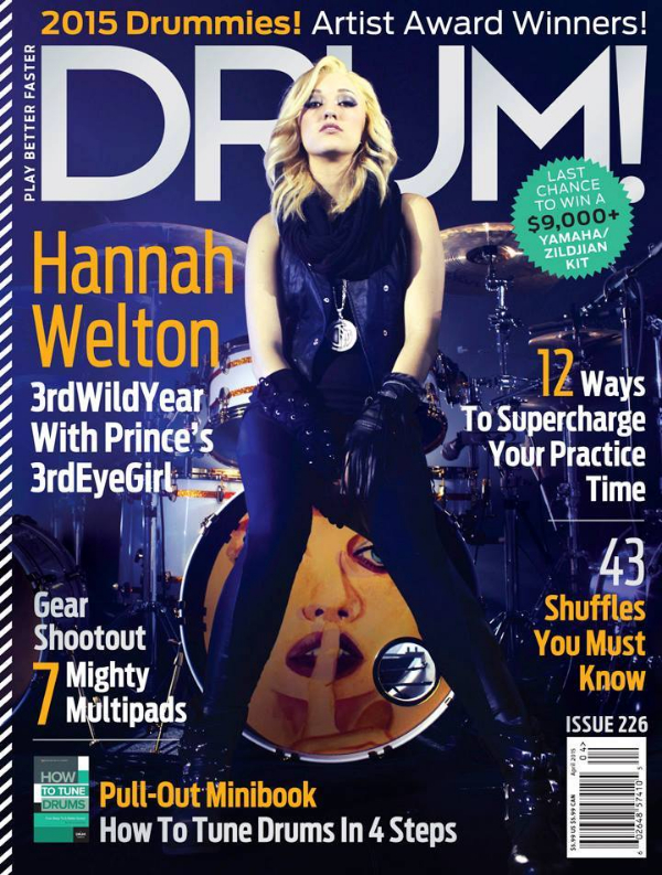 Hannah Welton Drum Magazine Cover