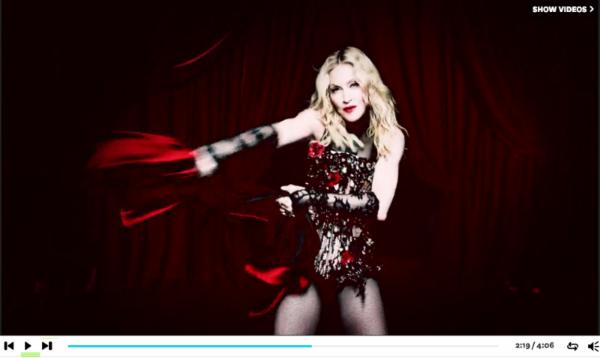Madonna Living For Love Screencap