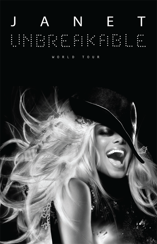 Janet Jackson Unbreakable World Tour Promo Image
