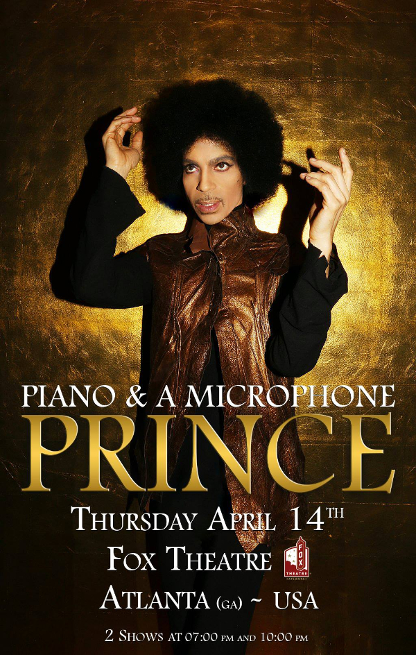 Atlanta April 14th Prince Photo By Madison Dube Artwork By LV