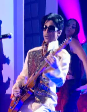Prince performs on Le Canal+, Paris. Oct. 14, 2009