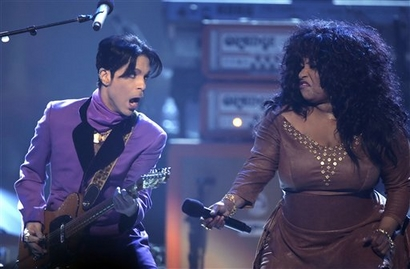 Prince & Chaka Khan. Photo: GettyImages.com