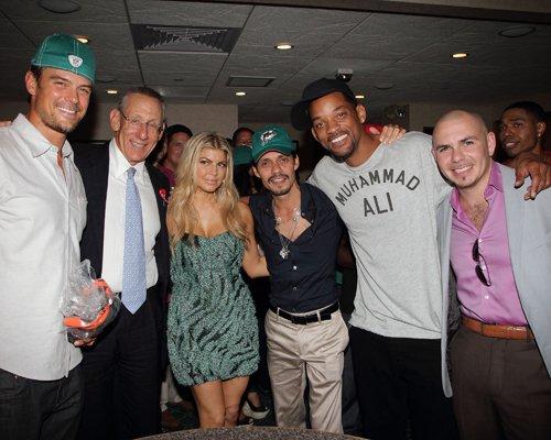 Josh Duhamel, Lucky Bastard, Fergie, Marc Anthony, Will Smith, & Pitbull. Photo: GettyImages.com
