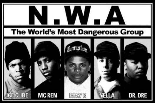 N.W.A. Promo Album Cover Photo